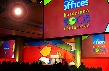 British Council for Offices conference in Barcelona.
